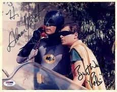 "Psa/dna Batman Adam West & Burt Ward ""robin"" Autographed-signed 8x10 Photo 79362"