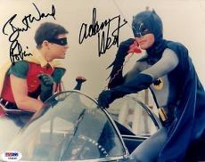 "Psa/dna Batman Adam West & Burt Ward ""robin"" Autographed-signed 8x10 Photo 79366"