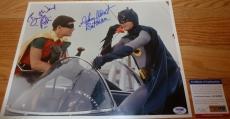 "Psa/dna ""batman"" Adam West & Robin Burt Ward Autographed-signed 11x14 Photo 5068"