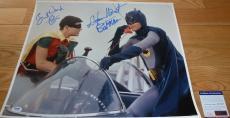 "Psa/dna ""batman"" Adam West ""robin"" Burt Ward Autographed-signed 16x20 Photo 2357"