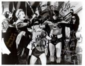 Psa/dna Batman Full Cast Of 6 Autographed-signed 8x10 Photo Adam West +5 More 52
