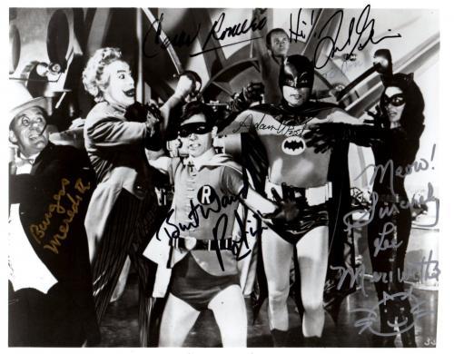 Psa/dna Batman Full Cast Of 6 Autographed-signed 8x10 Photo Adam West +5 More 52