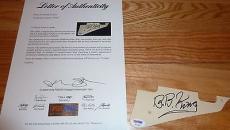 Psa/dna Bb King Autographed-signed Guitar Pickguard Z01440 (pick Guard)
