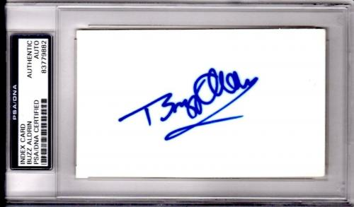 Psa/dna Buzz Aldrin Autographed-signed White 3x5 Rare Index Card 83779882