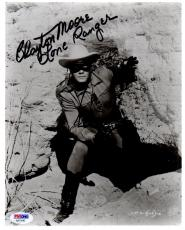"Psa/dna Clayton Moore ""lone Ranger"" Autographed-signed 8x10 Photo Aa71043"