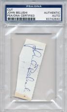 Psa/dna Cut Signature John Belushi (blues Brothers) 2640