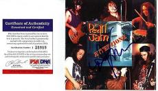 "Psa/dna Eddie Vedder Autographed Pearl Jam ""attenzione"" Italian Import Cd Jacket"