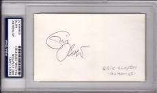Psa/dna Eric Clapton Vintage Autographed-signed White 3x5 Index Card 83846470
