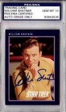 Psa/dna Gem Mint 10 1991 Impel Star Trek William Shatner Autographed-signed Card