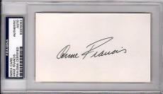 Psa/dna Hollywood Legend Anne Francis Autographed-signed 3x5 Index Card 83870053
