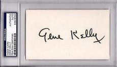 Psa/dna Hollywood Legend Gene Kelly Autographed-signed 3x5 Index Card 83846050