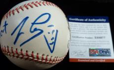 Psa/dna Jay Leno With Sketch Autographed-signed Onl Coleman Baseball X88977