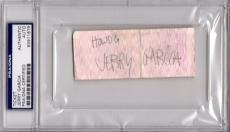 Psa/dna Jerry Garcia Grateful Dead 1981 Kc Ticket Stub Autographed-signed 911679