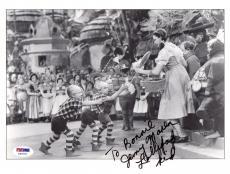 "Psa/dna Jerry Maren ""lollipop Kid"" Wizard Of Oz Signed 8.5x11 Photo Z43770"