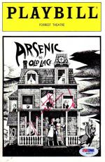 "Psa/dna Jonathan Frid Theater Program Signed ""arsenic And Old Lace"" Aa92121"