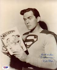 """Psa/dna Kirk Alyn Inscribed """"superman"""" Autographed-signed 8x10 Photo Aa71022"""