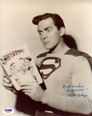 "Psa/dna Kirk Alyn Inscribed ""superman"" Autographed-signed 8x10 Photo Aa71023"