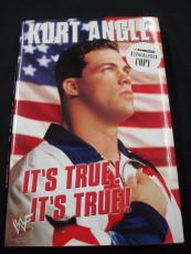 "Psa/dna Kurt Angle Autographed 2001 ""it's True"" 1st Edition Hardcover Book"