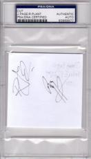 Psa/dna Led Zeppelin Jimmy Page & Robert Plant Autographed-signed Vintage Cut 77