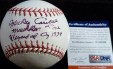 "Psa/dna Mickey Carroll""wizard Of Oz 1939"" Autographed-signed Oml Baseball Z10309"