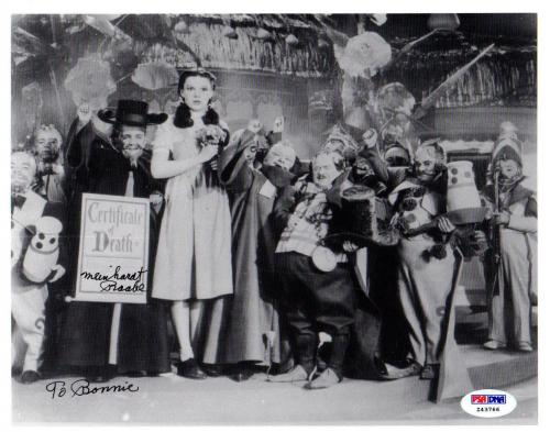 Psa/dna Munchkin Meinhardt Raabe The Wizard Of Oz Signed 8x10 Photo Z43766