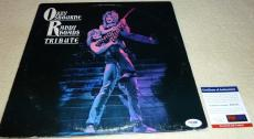 Psa/dna Ozzy Osbourne Randy Rhoads Tribute Auto Lp Album Aldridge-sarzo-airey 51