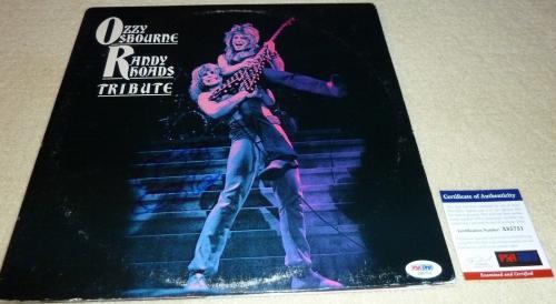 Psa/dna Ozzy Osbourne Randy Rhoads Tribute Auto Lp Album Aldridge-sarzo-airey 51