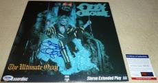 Psa/dna Ozzy Osbourne The Ultimate Ozzy Autographed Laserdisc Album W/jack E Lee