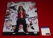 PSA/DNA rapper LIL WAYNE tunchi  signed 11X14 photo