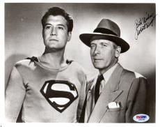 Psa/dna Robert Shayne Superman Autographed-signed 8x10 Photo-photograph Aa92183