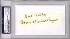 Psa/dna Ronald & Nancy Reagan Dual Autographed-signed 3x5 Index Card Cut 3926888