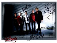 PSA/DNA RUSSELL HITCHCOCK & GRAHAM RUSSELL +2 AIR SUPPLY SIGNED 8x10 PHOTO 07945