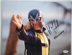 Psa/dna Signed 11x14 Photo Michael Fassbender (magneto) Pe102