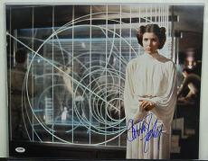 Psa/dna Signed 16x20 Photo Carrie Fisher  129