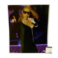 Psa/dna Signed 16x20 Photo Mariah Carey  *78