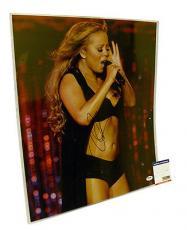 Psa/dna Signed 16x20 Photo Mariah Carey  *79