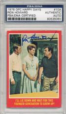 Psa/dna Signed 1976 Opc Happy Days Ron Howard 5060