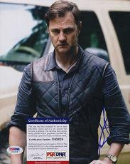 Psa/dna Signed 8x10 Photo  David Morrissey  (walking Dead)  3850