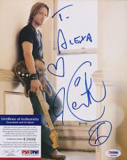 Psa/dna Signed 8x10 Photo  Keith Urban   3272