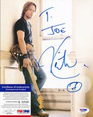Psa/dna Signed 8x10 Photo  Keith Urban   3273