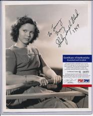 Psa/dna Signed 8x10 Photo Shirley Temple Black  371
