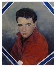Psa/dna Signed Auto 16x20 Photo (rare) Elvis Presley