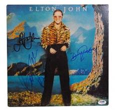 Psa/dna Signed Auto Album Elton John / Taupin / Johnstone 99103