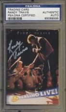 Psa/dna Signed Auto Randy Travis Trading Card  8595