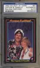 Psa/dna Signed Auto The Captain And Tenille Trading Card  596