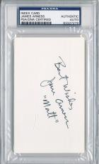 Psa/dna Signed Cut Signature James  Arness    7279