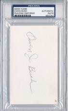 Psa/dna Signed Index Card Owen Bush  2242