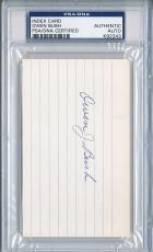 Psa/dna Signed Index Card Owen Bush  2243
