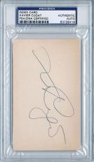 Psa/dna Signed Index Card Xavier Cugat  8418