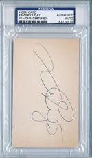Psa/dna Signed Index Card Xavier Cugat  8419